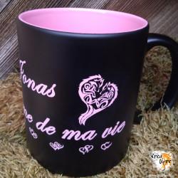 Tasse Noir et Rose/Violet à...