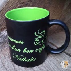 Tasse Noir et Vert à...