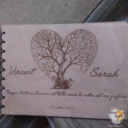 Carnet en bois Paysage à...